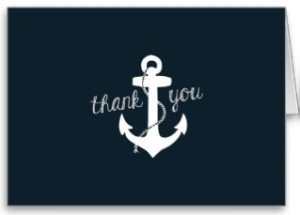 Nautical Thank You card