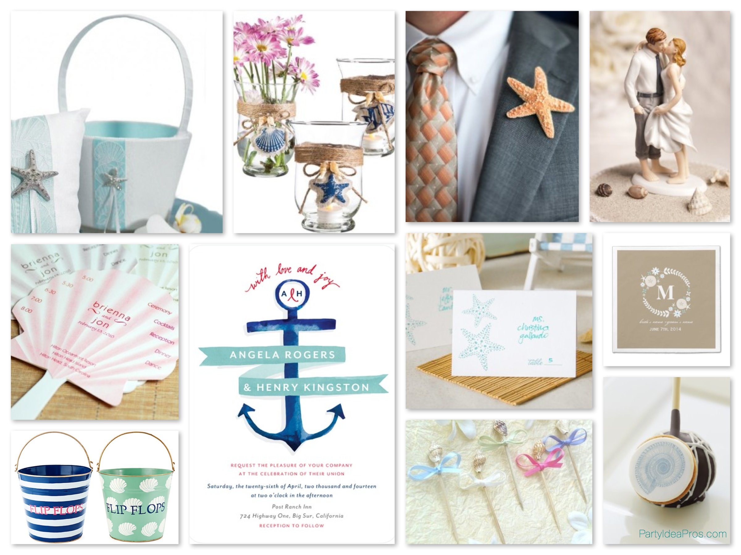 Nautical & Beach Theme Wedding Planning Ideas & Supplies