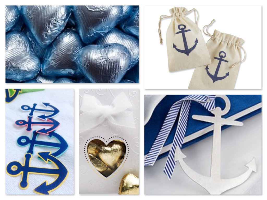 Nautical + Hearts Wedding Favors | Summer Party Ideas ...