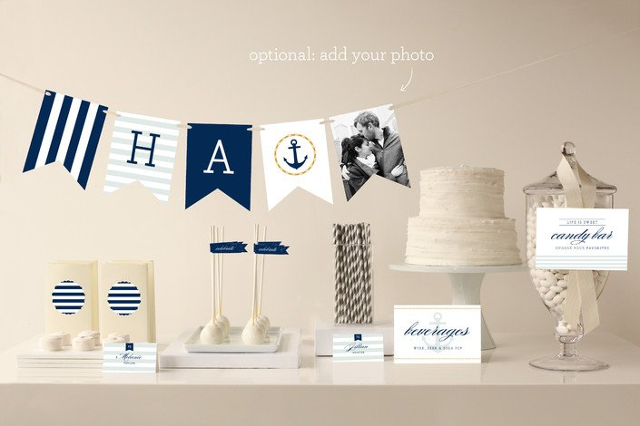 Nautical beach wedding planning theme ideas decor for Anchor decoration party