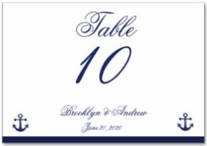 Navy Blue Nautical Wedding Place Cards Table Cards