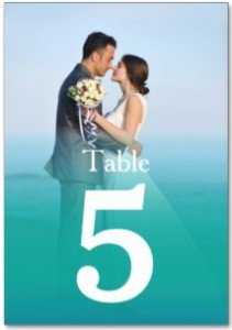 Ocean Mist Wedding Photo Table Number Cards Table Cards