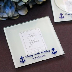 Personalized Frosted Glass Photo Coasters