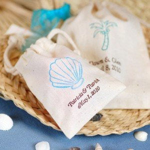 Personalized Natural Cotton Wedding Favor Bag