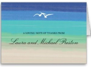 Sand, Sea & Seagulls | Painted Ocean Thank You Greeting Cards