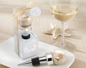 Seaside Sand and Shell-Filled Globe Bottle Stopper