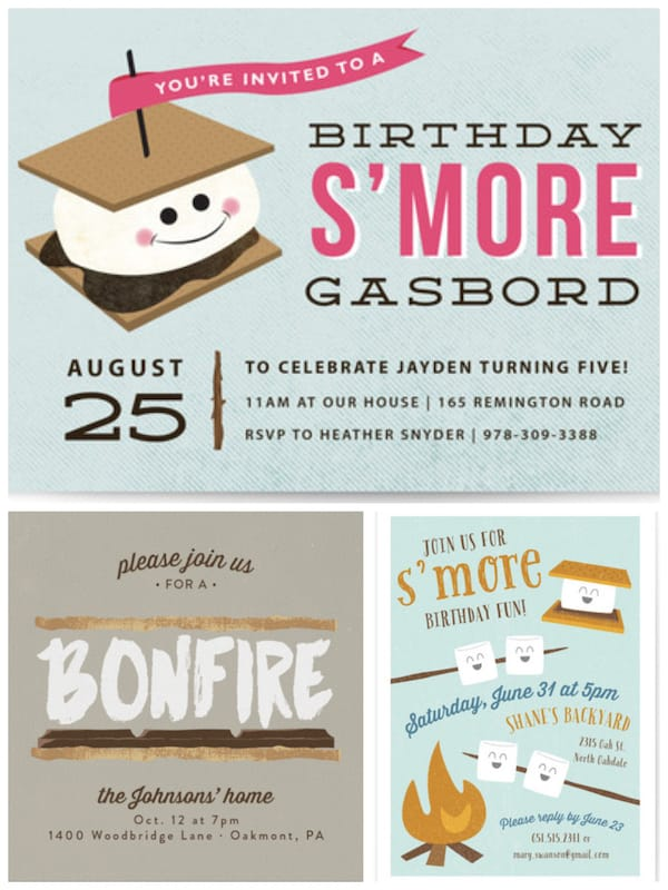 S'mores Party Invitations