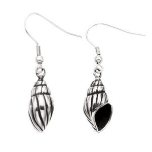 Stainless Steel Conch Shell Earrings
