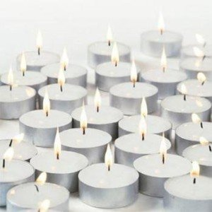 Tealight Candles White Unscented Set of 100