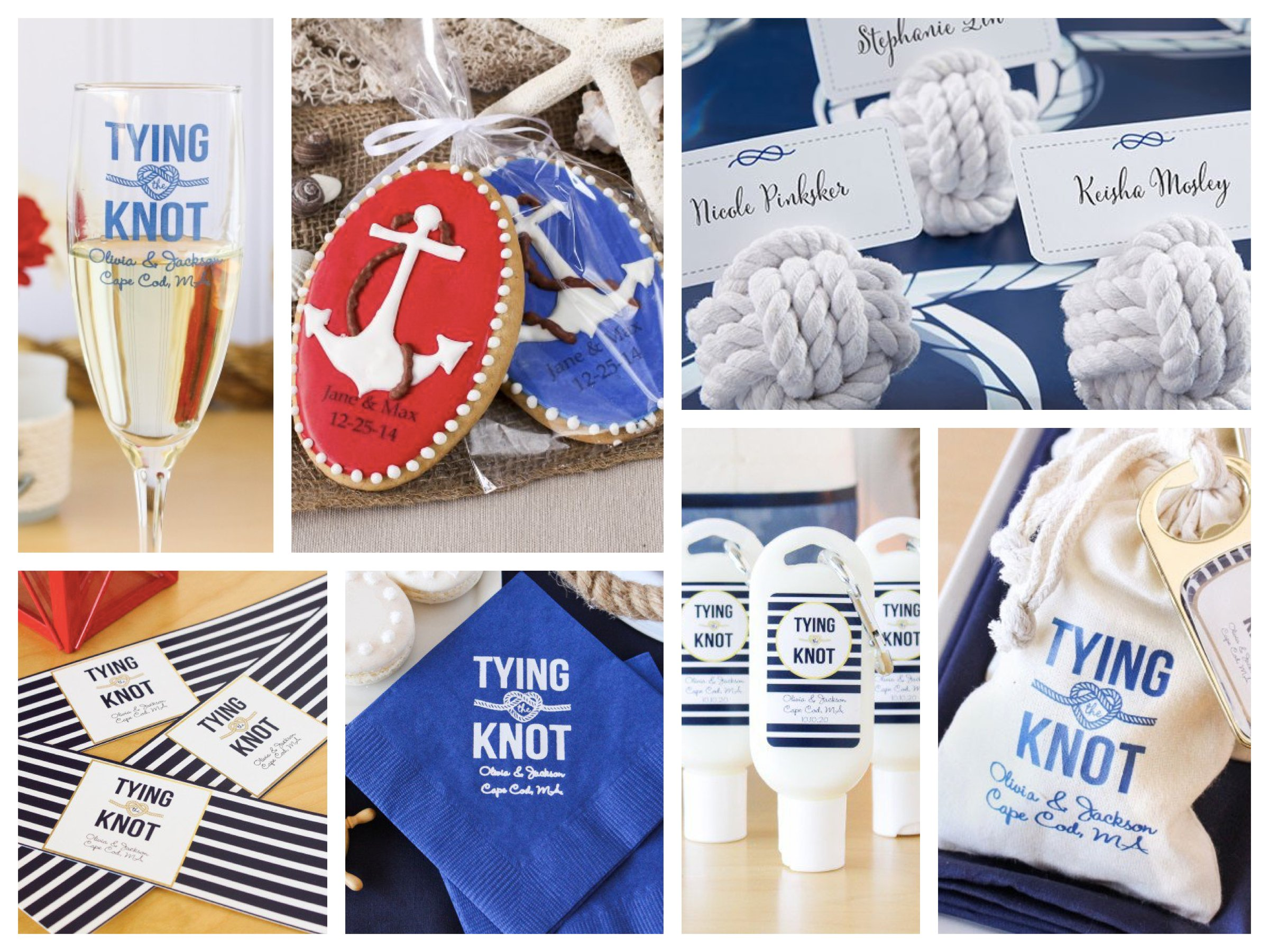Tying the Knot Nautical Wedding Favors