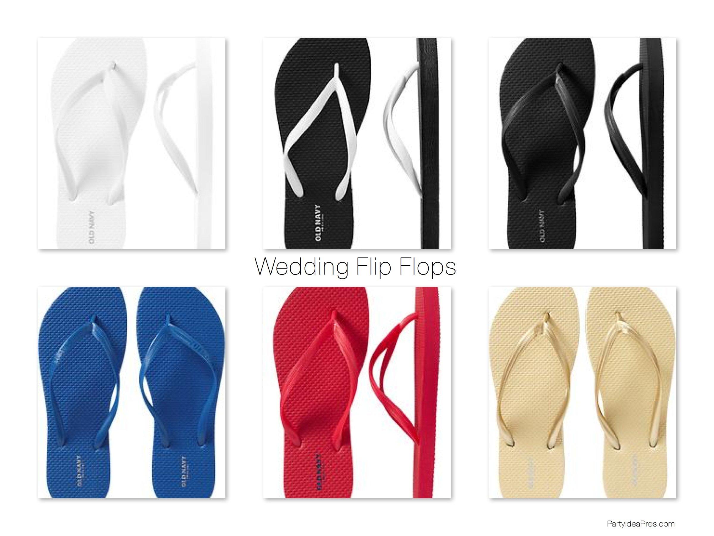 Wedding Flip Flop Pails
