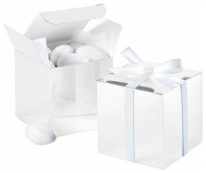 White Square Favor Box Kit