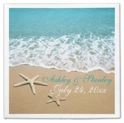 starfish beach wedding napkins