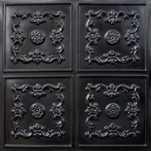 130 Faux Tin Ceiling Tile Black Le Chateau
