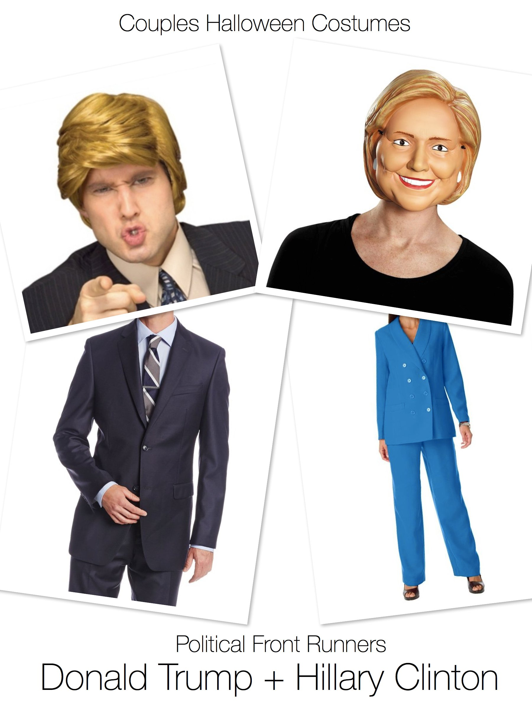 Couples Halloween Costumes Donald Trump & Hillary Clinton