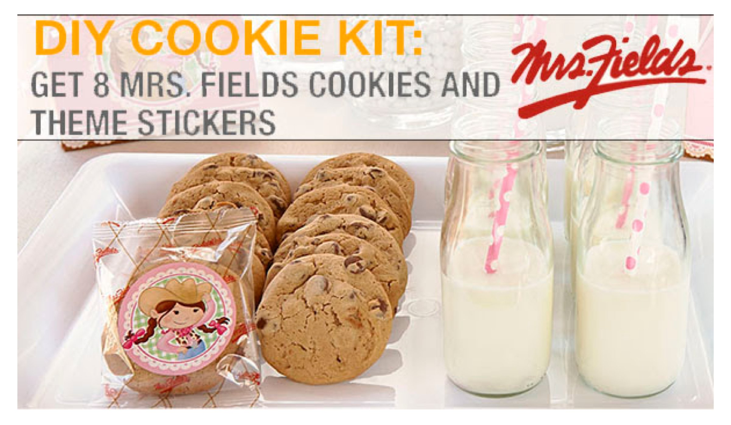 DIY Mrs Fields Cookies Party Favors, Mrs. Fields Cookies Party Favors Kit