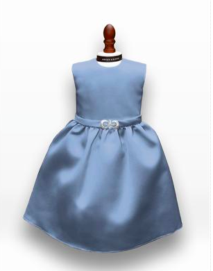 Dessy Girl Doll Dress- DOL401 Windsor Blue