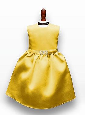Dessy Girl Doll Dress DOL411 Marigold