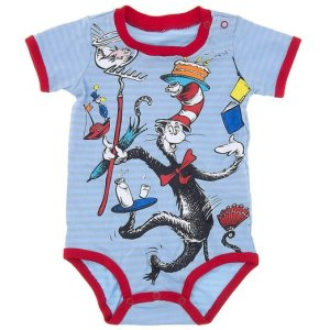 Dr Seuss Cat in The Hat Onesie