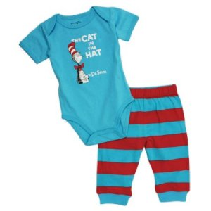 Dr Seuss Cat in the Hat Short Sleeve Baby Clothes