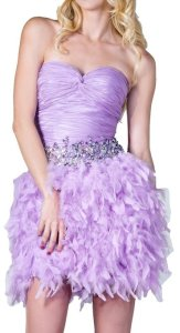 Feather Prom Party Dress