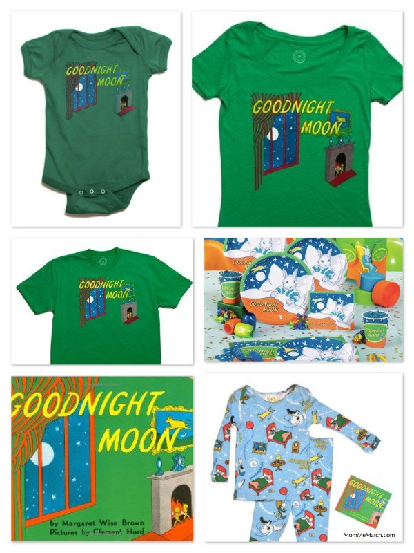 Good Night Moon Party Ideas, Baby Books with Matching Onesies