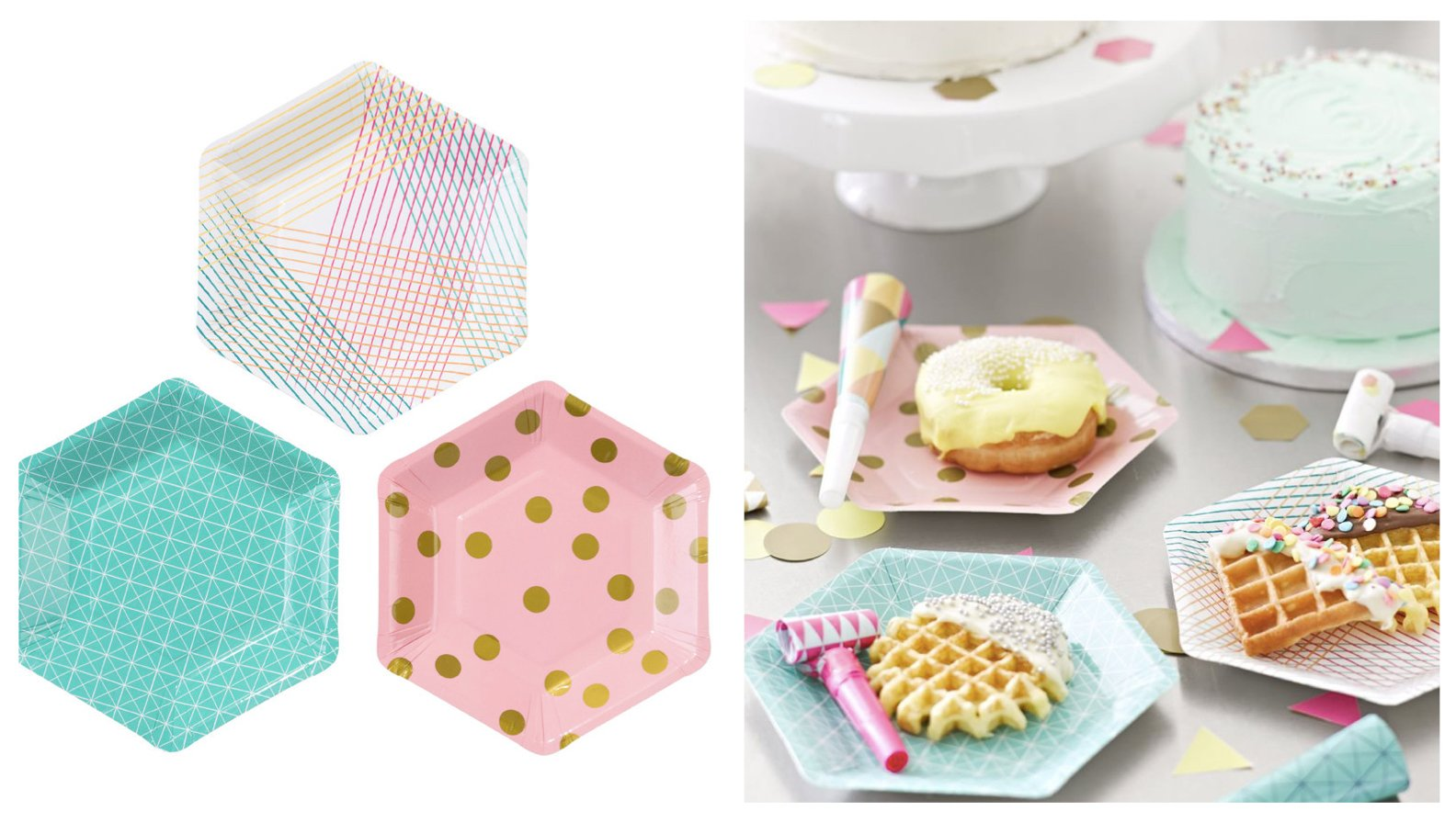 Hexagon Party Plates