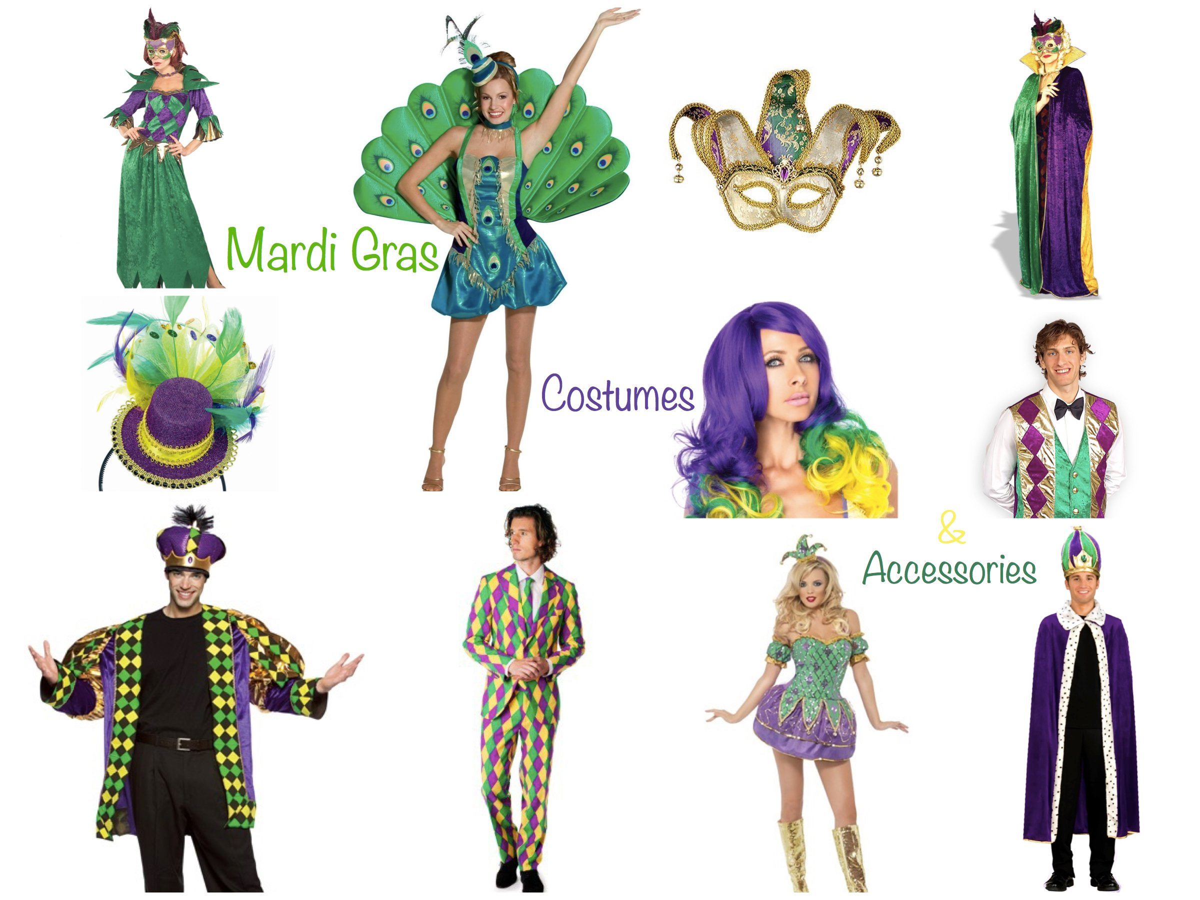 Mardi Gras Couples Costumes & Accessories