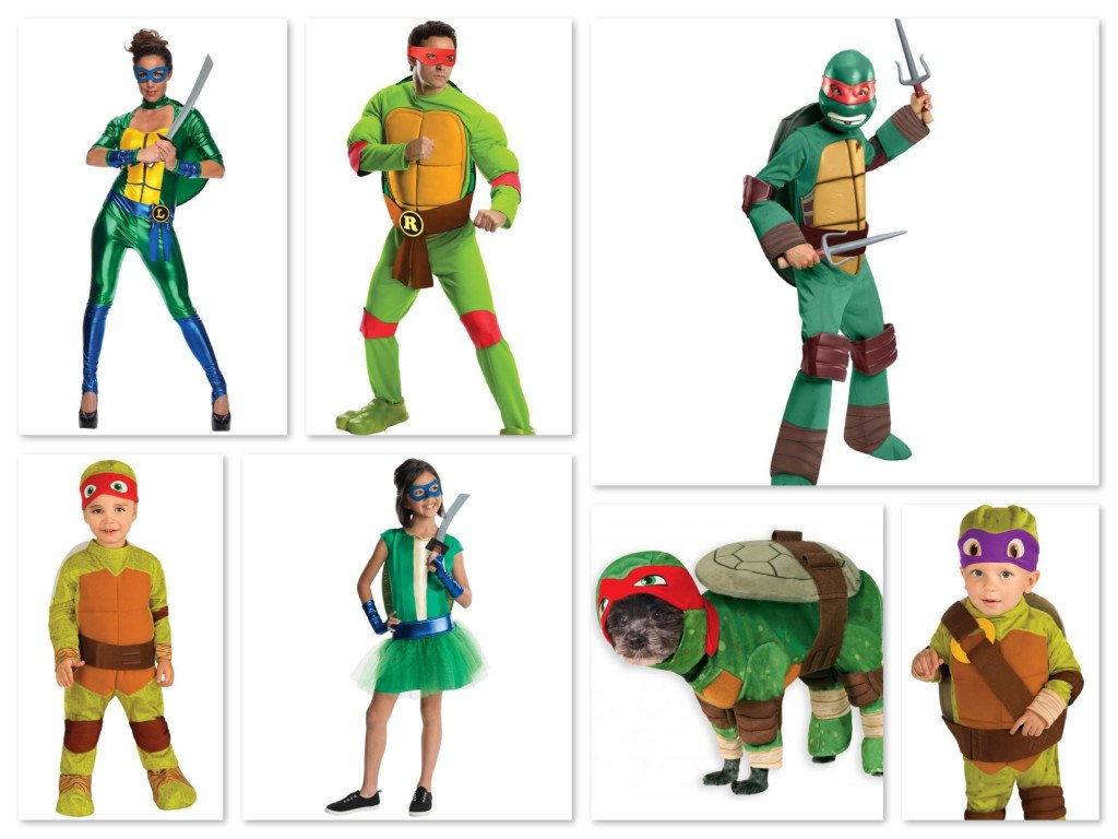 Matching Family Teenage Mutant Ninja Turtles Halloween Costumes