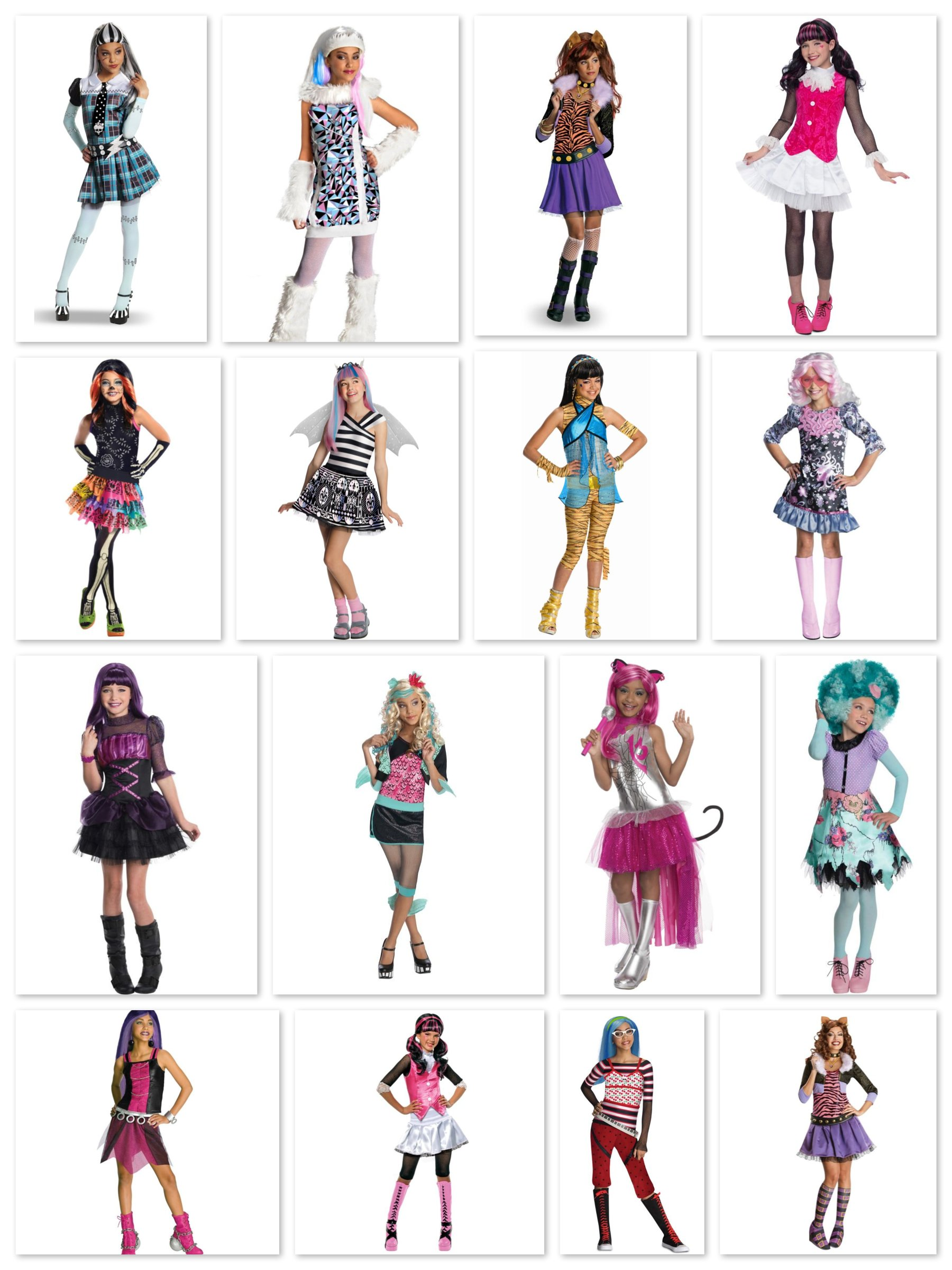 Monster High Tween Group Costumes