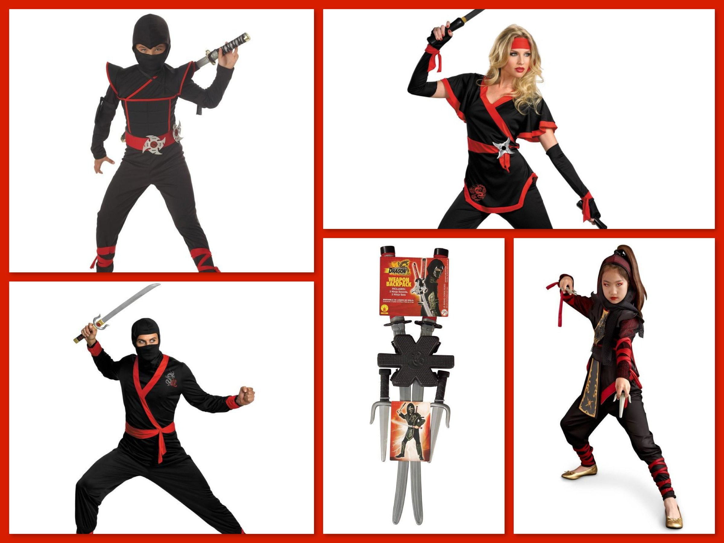 Ninja Warrior Family Costumes