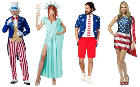 Patriotic Couples Costumes