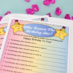 Personalized Who Knows the Birthday Star Game