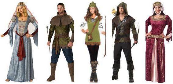 Robin Hood & Maid Marion Couples Costumes