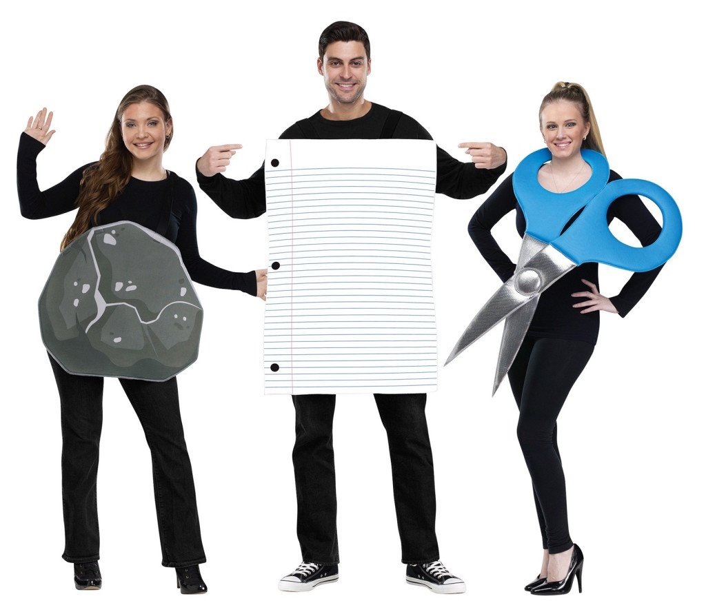 Rock Paper Scissors Matching Family Costume