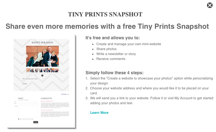 Tiny Prints Snapshot