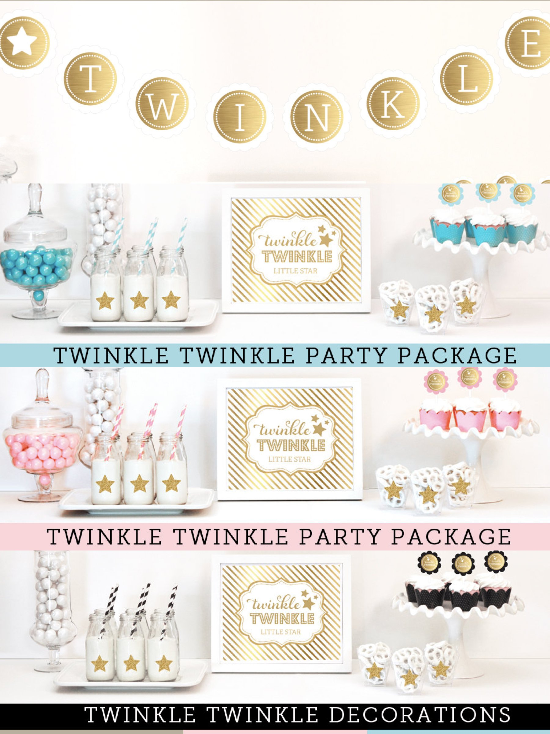 Twinkle Little Star Party Decorations