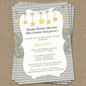 Twinkle, Twinkle Little Star baby shower invite