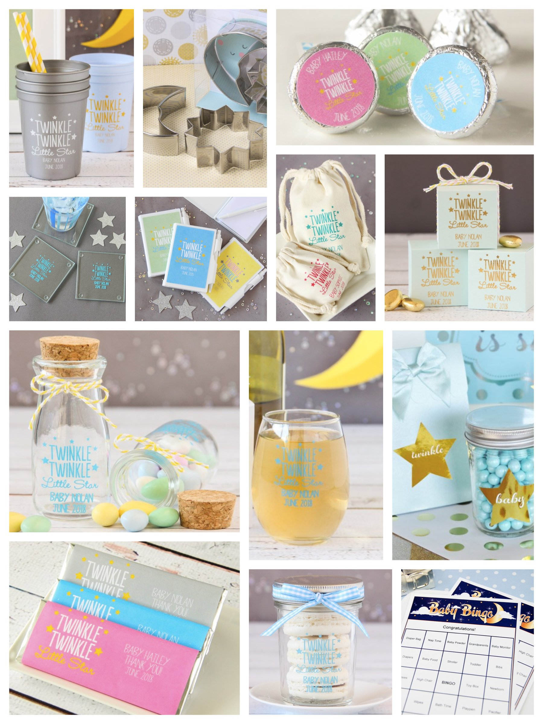 little star baby shower favorstwinkle little star baby shower favors