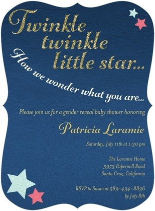 Twinkling Wonder Baby Shower Invitation