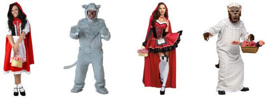 Big Bad Wolf & Little Red Riding Hood Couples Costumes