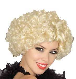 Women's Short Curly Blonde Wig