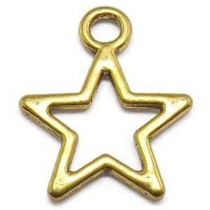 gold star charms