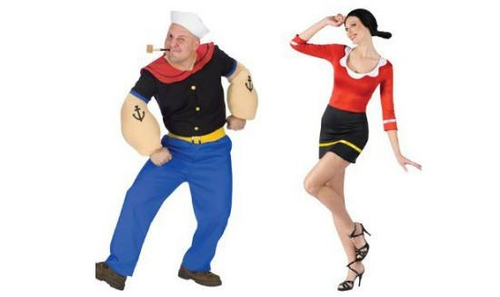 popeye & olive oyl couples costumes