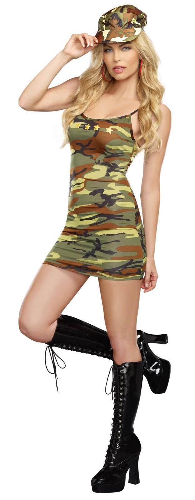 sexy camo dress