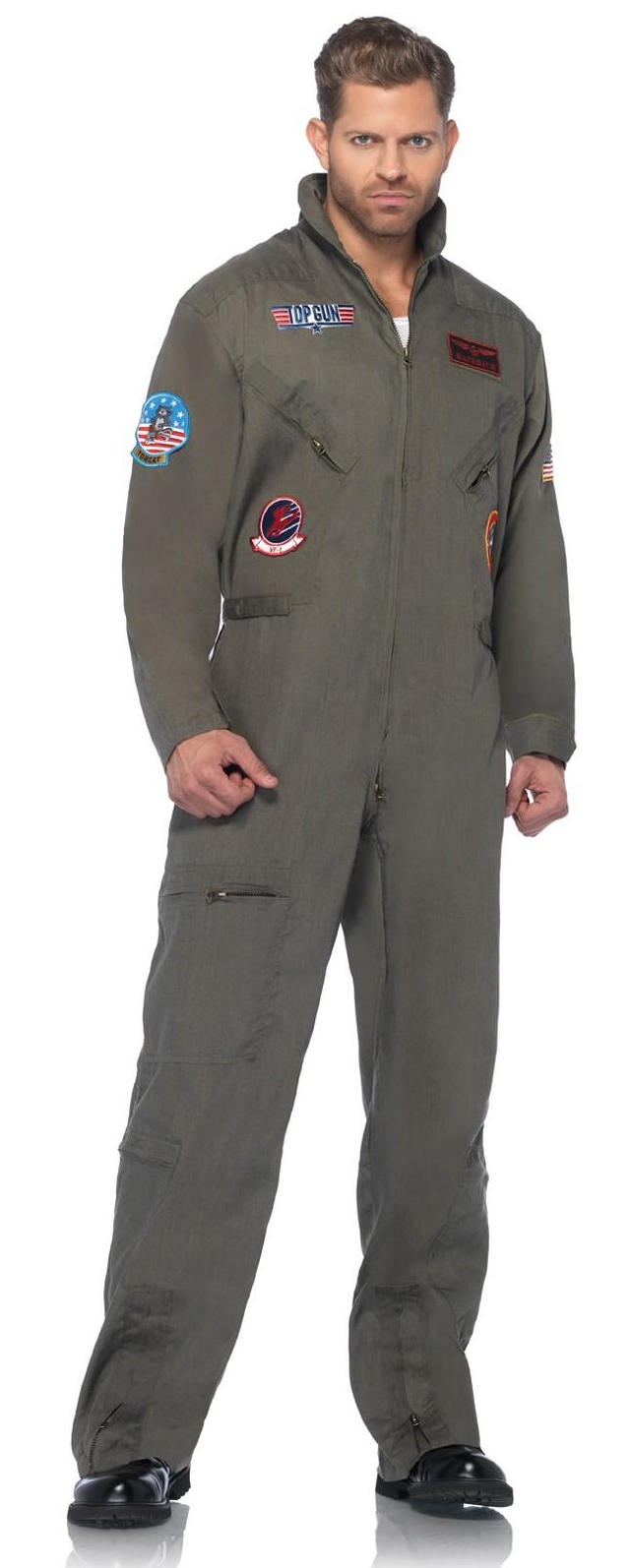 top gun mens flight suit costume