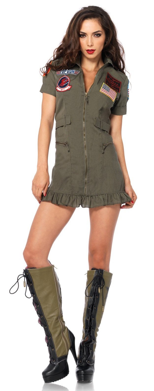 top gun women's flight dress costume