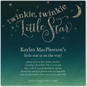 twinkle bright baby shower invitations