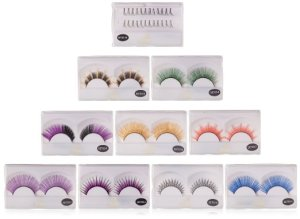 Assorted Colorful Reusable Eyelashes
