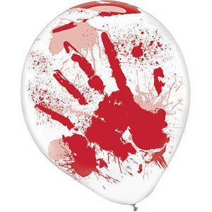 Asylum Printed Latex Balloons Halloween Party Decor